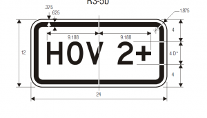 R3-5c Lane Control Plaque Regulatory Sign Spec
