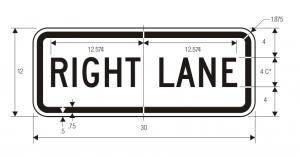 R3-5f Lane Control Plaque Regulatory Sign Spec