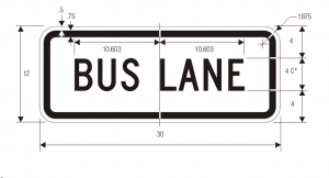 R3-5g Lane Control Plaque Regulatory Sign Spec