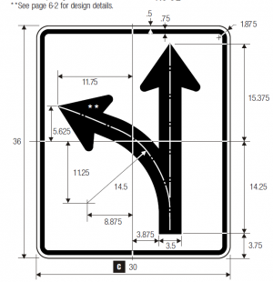 R3-6L Optional Movement Lane Control Regulatory Sign Spec