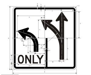 R3-8 Advance Intersection Lane Control Regulatory Sign Spec