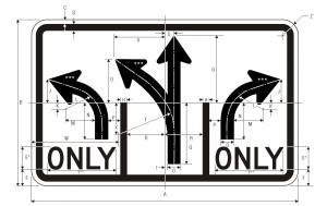 R3-8a Advance Intersection Lane Control Regulatory Sign Spec