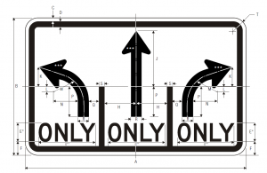 R3-8b Advance Intersection Lane Control Regulatory Sign Spec