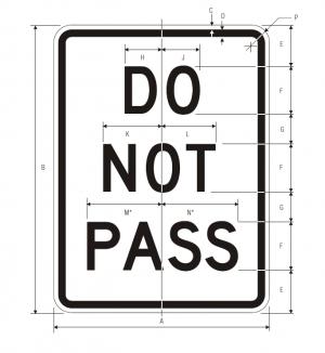 R4-1 Do Not Pass Regulatory Sign Spec
