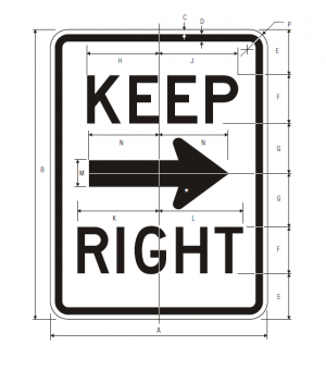 R4-7a Keep Right Regulatory Sign Spec