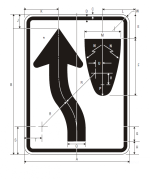 R4-8 Keep Left Regulatory Sign Spec