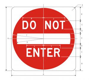R5-1 Do Not Enter Regulatory Sign Spec