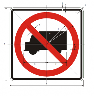 R5-2 No Trucks Regulatory Sign Spec