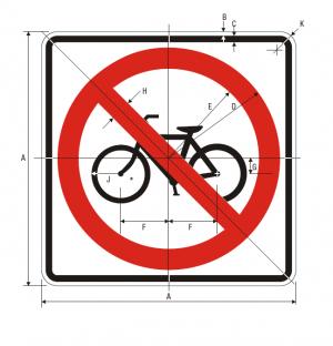 R5-6 No Bicycles Regulatory Sign Spec