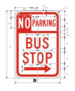 R7-107 No Parking Regulatory Sign Spec