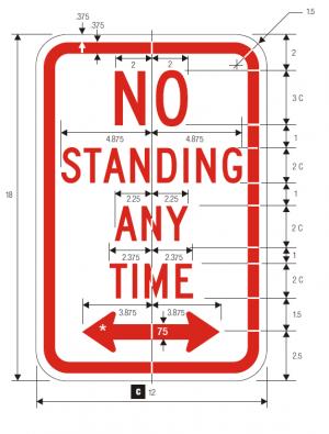 R7-4 No Parking Regulatory Sign Spec
