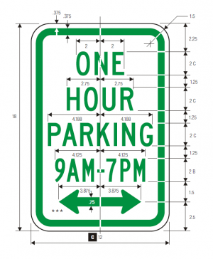 R7-5 No Parking Regulatory Sign Spec