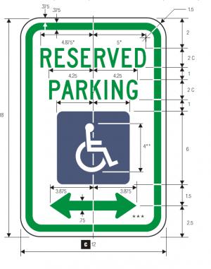 R7-8 No Parking Regulatory Sign Spec