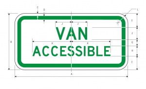 R7-8a Van Accessable Regulatory Sign Spec