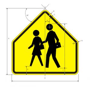S1-1 School Sign Spec