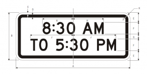 S4-1 8:30 am To 5:30 pm School Sign Spec