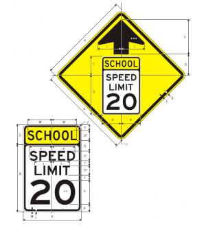 S4-5 Reduced Speed School Zone Ahead Sign Spec
