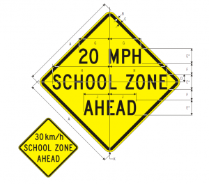 S4-5a REDUCED SPEED (SCHOOL) ZONE AHEAD