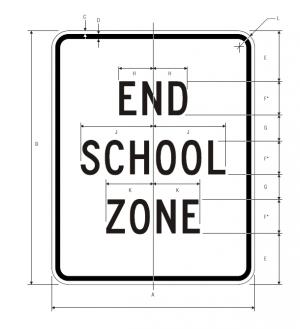 S5-2 End School Zone Sign Spec