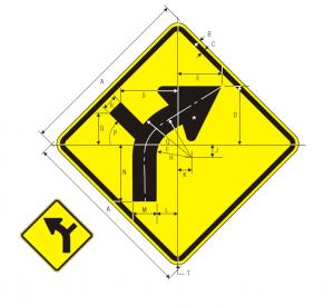 W1-10L Warning Sign Spec