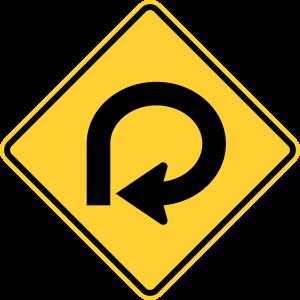 W1-15 270 Degree Loop Warning Sign