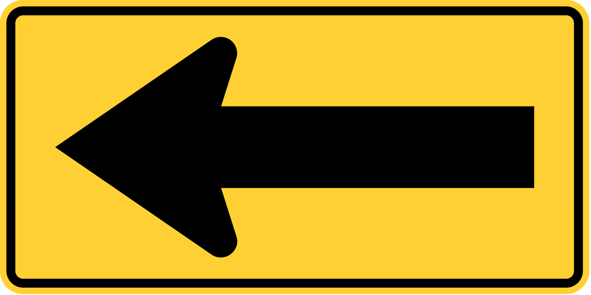 W1-6L Warning Sign