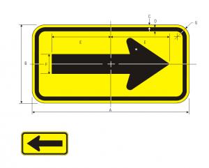W1-6L Warning Sign Spec