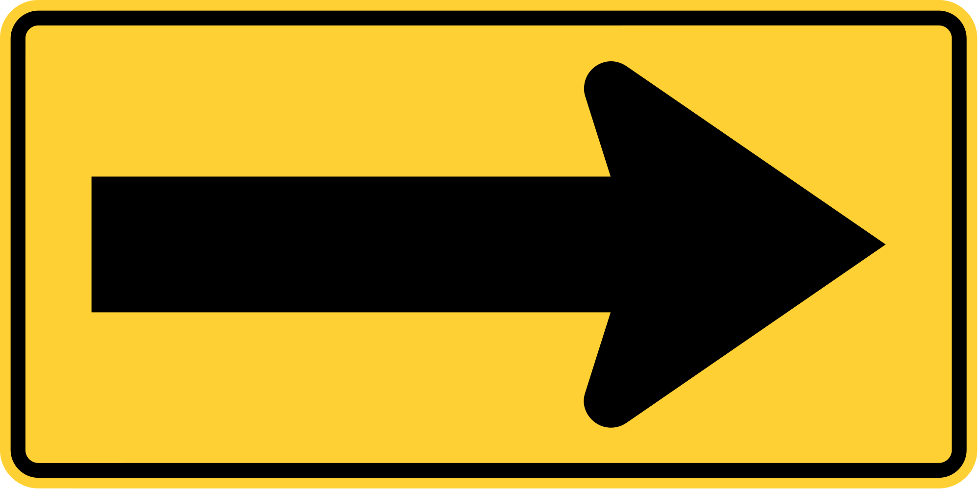 W1-6R One Direction Large Arrow Warning Sign