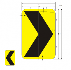W1-8L Warning Sign Spec