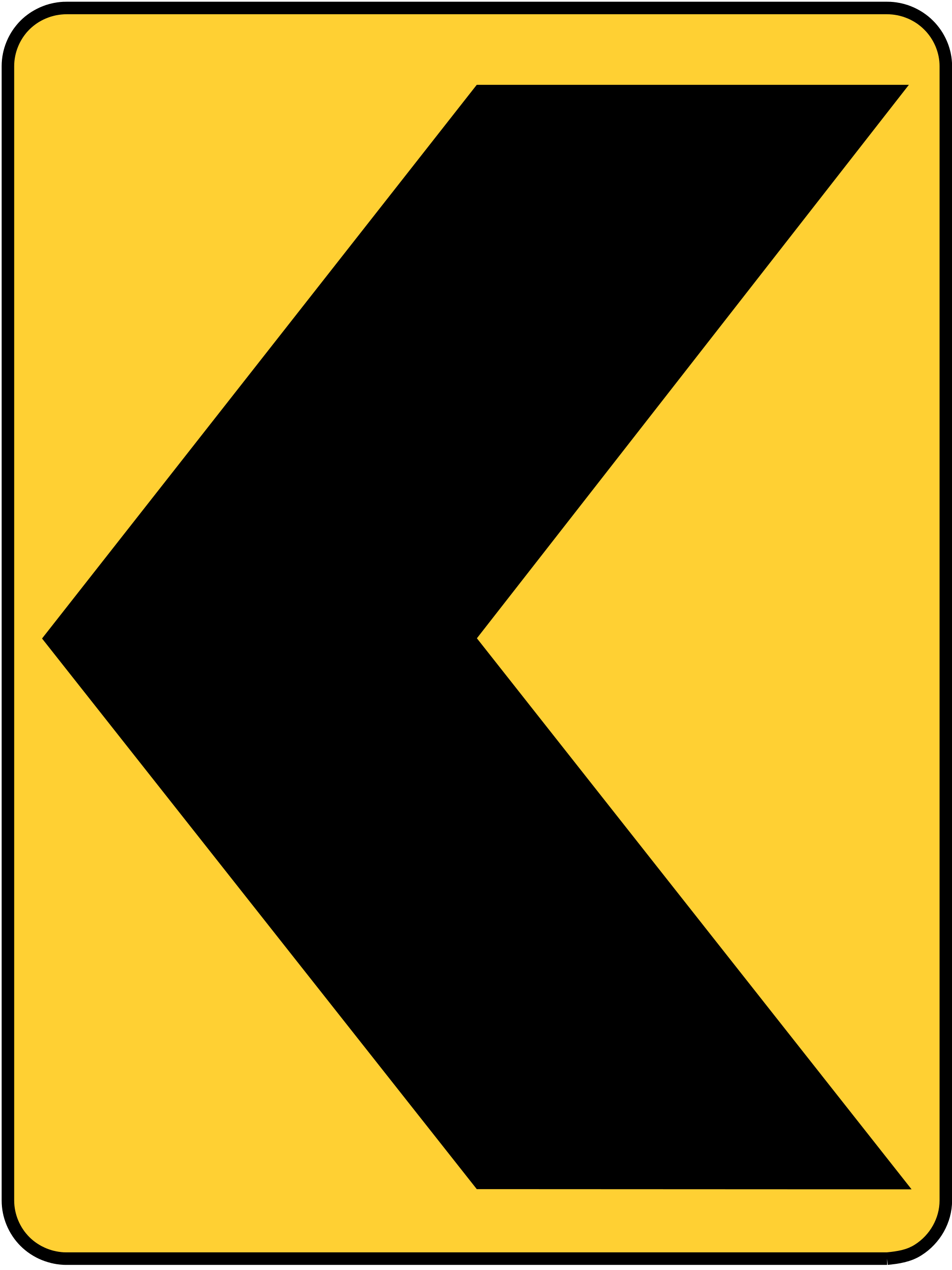 W1-8L Warning Sign