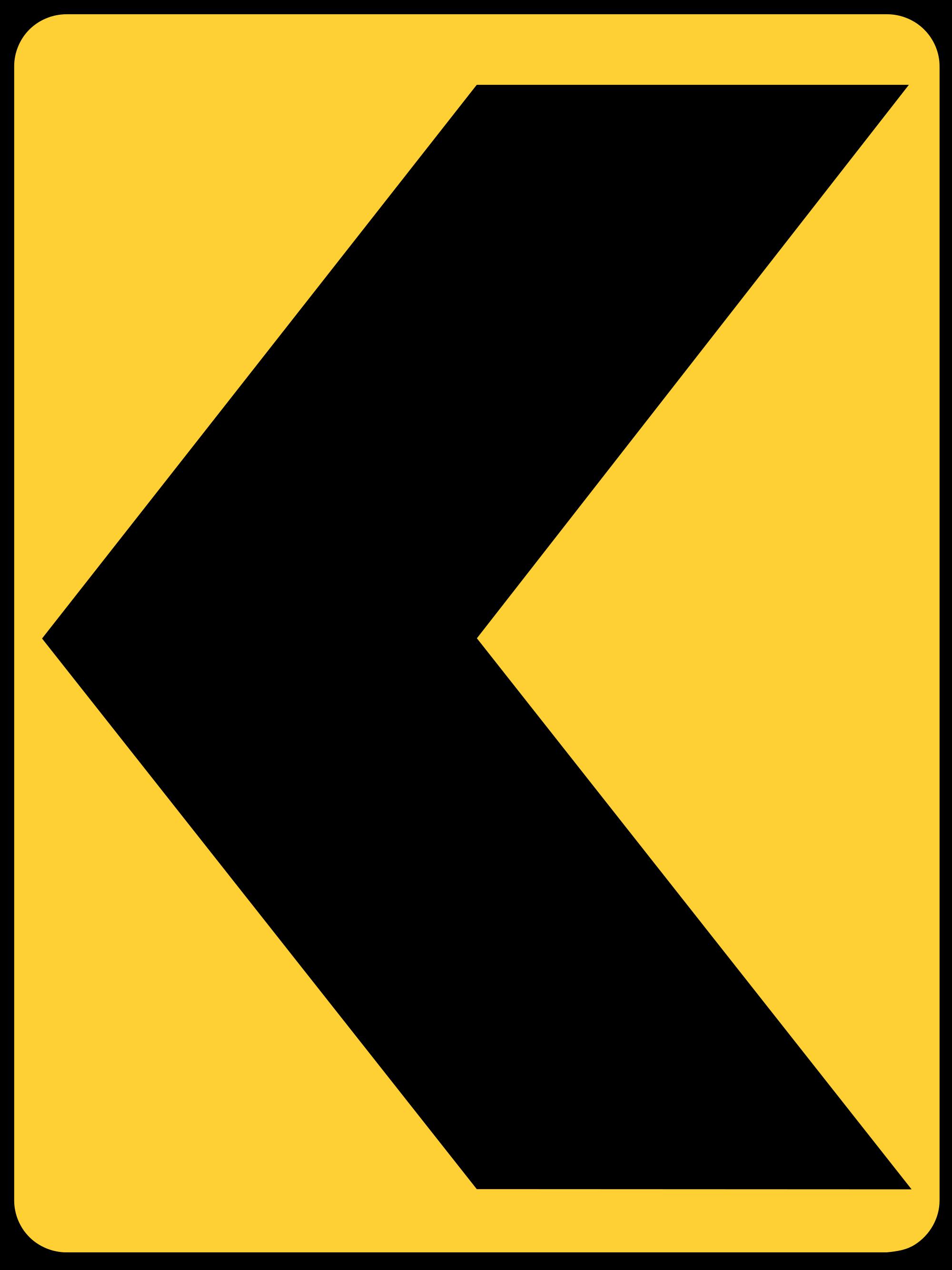 W1-8L Warning Sign