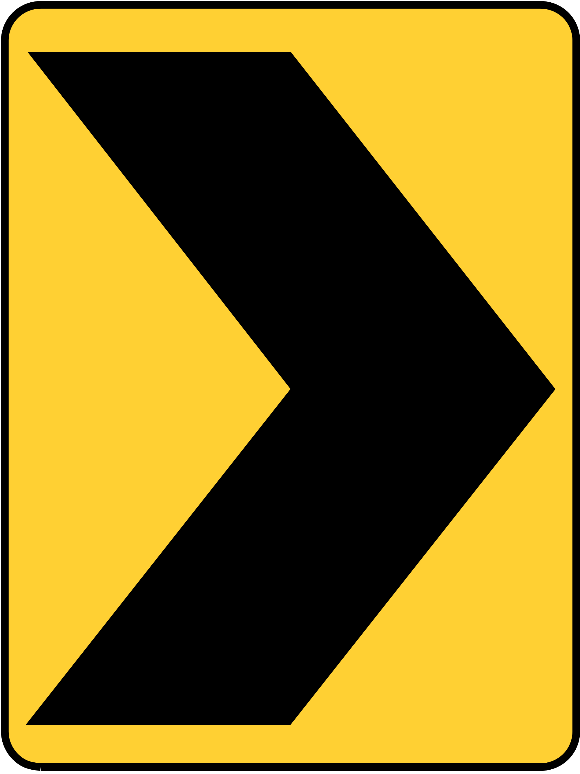 W1-8R CHEVRON ALIGNMENT