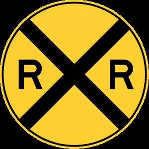 W10-1 HIGHWAY-RAIL GRADE CROSSING ADVANCE WARNING