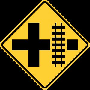 W10-2R HIGHWAY-RAIL GRADE CROSSING ADVANCE WARNING