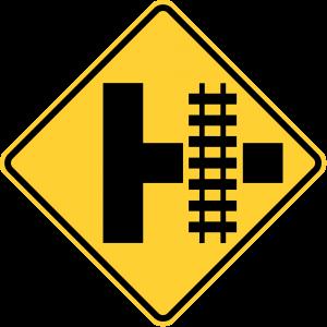 W10-3R Highway Rail Grade Crossing Advance Warning Warning Sign