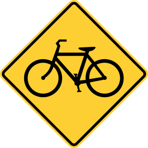 W11-1 Bicycle Traffic Warning Sign