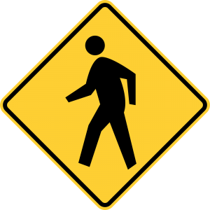 W11-2 Pedestrian Traffic Warning Sign