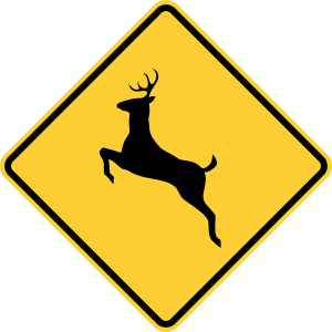 W11-3 Deer Traffic Warning Sign