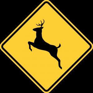 W11-3 Deer Traffic Warning Sign