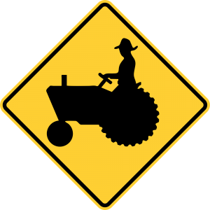 W11-5 FARM MACHINERY TRAFFIC
