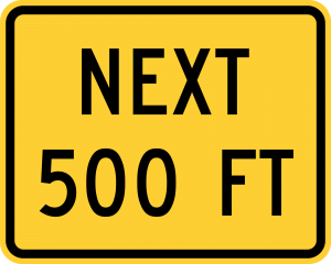W16-4 500 FT (2 LINE) (ENGLISH)
