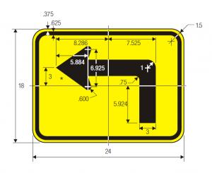 W16-6pL-ARROW-PLAQUE-1- Spec