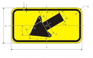 W16-7pL-LEFT-DIAGONAL-ARROW-PLAQUE Img