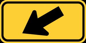 W16-7pL LEFT DIAGONAL ARROW PLAQUE