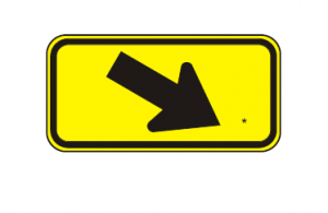 W16-7pR-RIGHT-DIAGONAL-ARROW-PLAQUE Img
