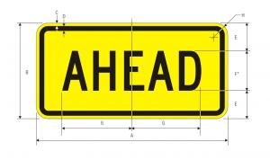 W16-9p-AHEAD-PLAQUE-1 Spec