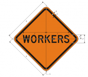 W21-1 Workers Warning Sign Spec
