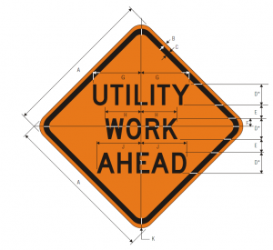 W21-7 UTILITY WORK AHEAD