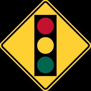 W3-3 Signal Ahead Warning Sign