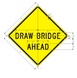 W3-6 DRAW BRIDGE AHEAD